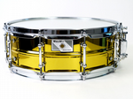 "WORLDMAX YELLOW PLATED STEEL SNARE 14"" X 5"""